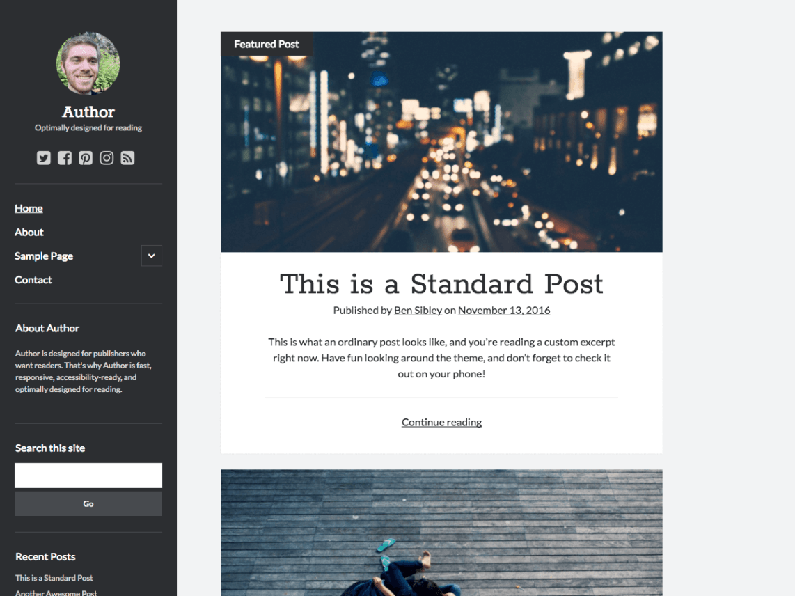 30+ Best FREE WordPress Themes for Writers (2020) 9