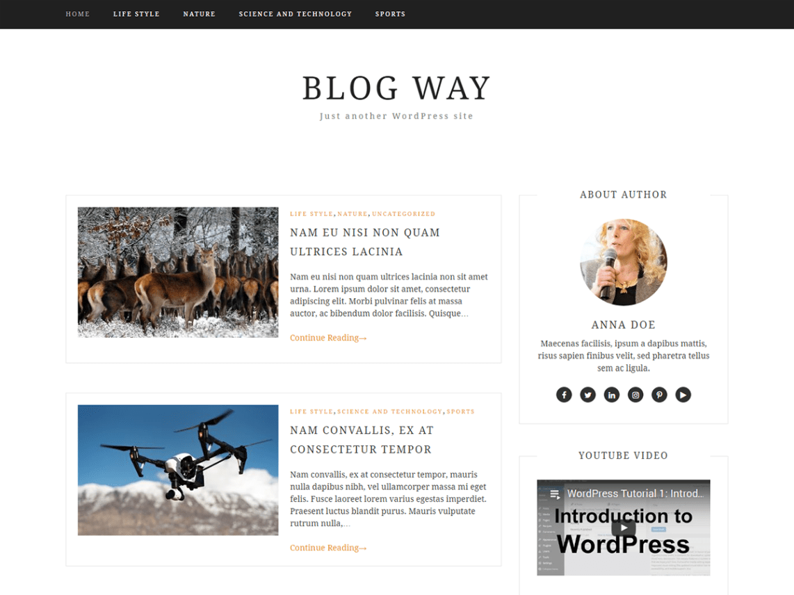 30+ Best FREE WordPress Themes for Writers (2020) 21
