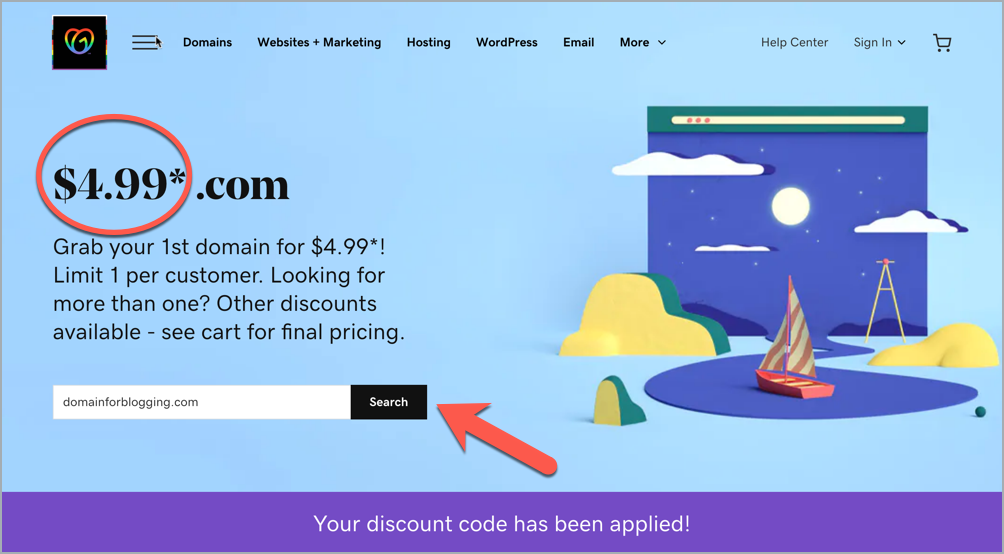 How To Buy A Domain Name From GoDaddy [For $4.99] 2